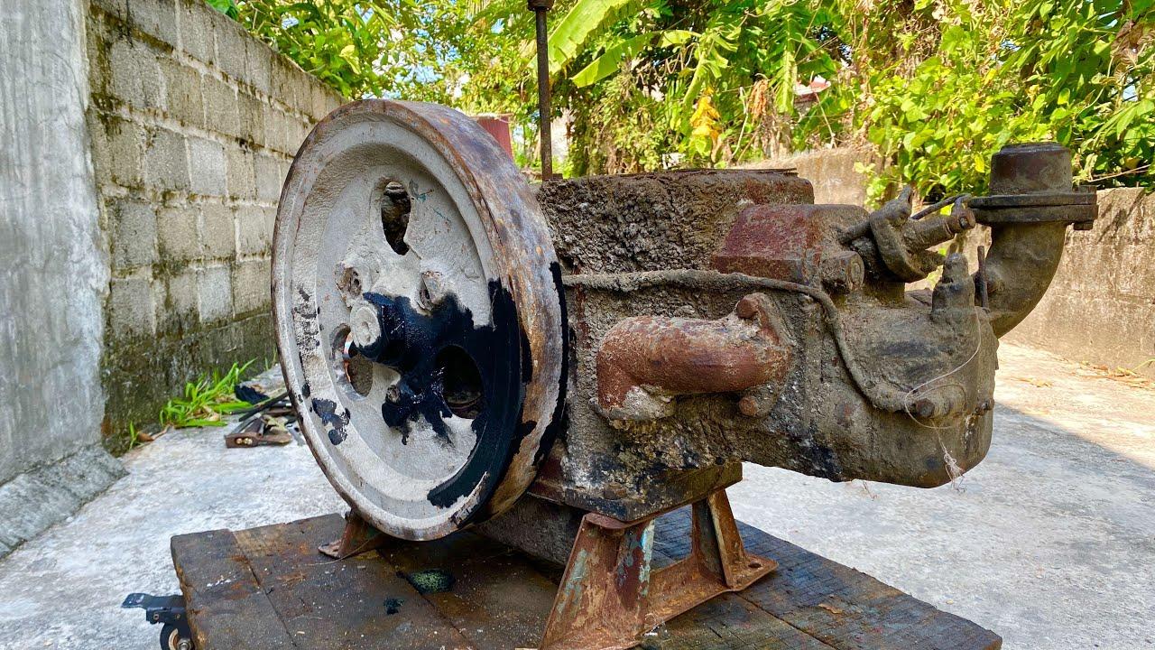 Fully restoration old S1100 diesel engine | Restore and repair old rusty Samdi D20 engine