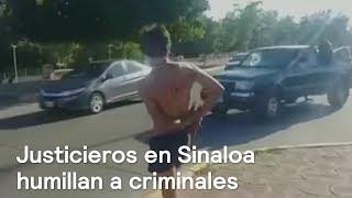 Justicieros en Sinaloa humillan a criminales - Crimen - En Punto con Denise Maerker thumbnail
