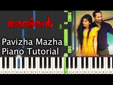 Pavizha Mazha Piano Tutorial Notes & MIDI   Athiran   Malayalam Song