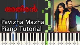 Pavizha Mazha Piano Tutorial Notes & MIDI Athiran Malayalam Song