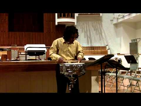Snare Drum Solo No. 9, Delecluse, performed by Jaske' Goff II