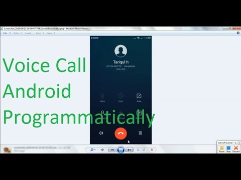 How Create a Voice Call in android programmatically in android studio 3  0