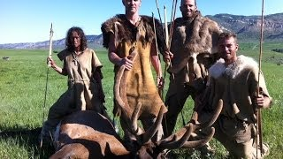 Trophy elk killed with spears