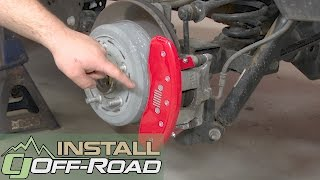 Jeep Wrangler MGP Brake Caliper Cover Red Silver Front Jeep Logo/Rear Grille 07-17 Installation