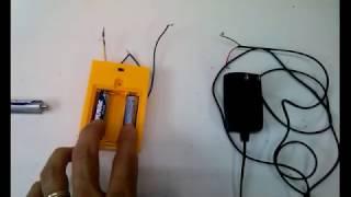 10  Carregando Pilhas (não recarregaveis)  com Carregador de Celular