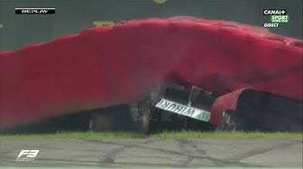 F3 SPA race crash Simo Laaksonen 2019