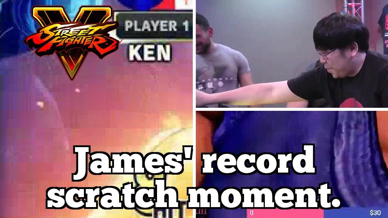 Daily FGC: Street Fighter V Plays: James' record scratch moment