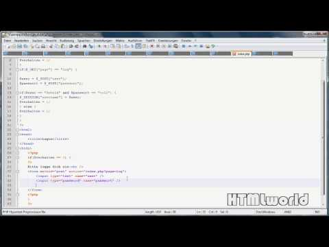 PHP Tutorial: LOGIN per PHP SESSION erstellen | deutsch