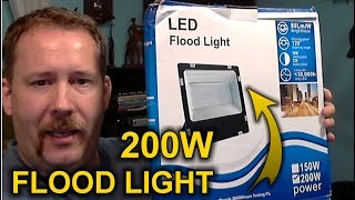 cheap Chinese 200W LED Flood Light from Ebay Review