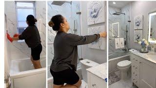 CLEAN + DECORATE WITH ME | SPRING BATHROOM DECOR + ORGANIZATION