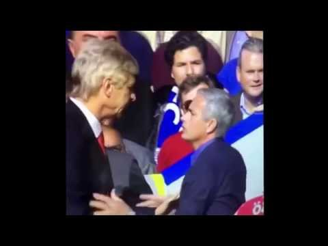 Arsene Wenger & Jose Mourinho Clash During Chelsea Vs Arsenal