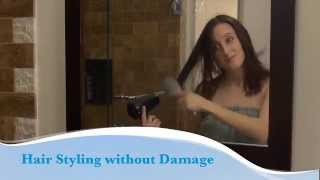 How to style hair without damage video