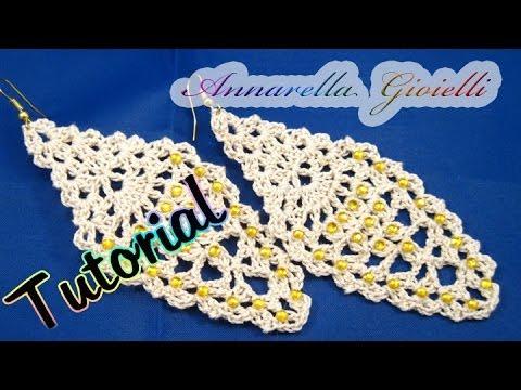 Tutorial Orecchini Leaf Foglia Alluncinetto How To Crochet
