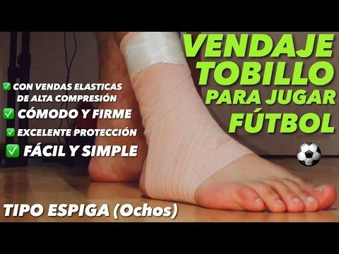 Vendaje de Tobillo para jugar Fútbol   TIPO ESPIGA (Alta Compresión)  