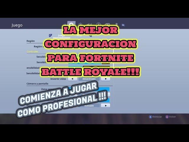 *La Mejor Configuracion De Fortnite Para Consola* XBOX Y PS4!!!