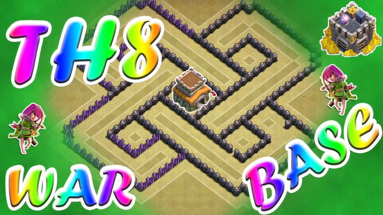 Clash of clans best illusion th8 war base ever great defense