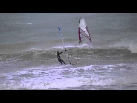 Wissant Windsurf Janvier 2011 Youtube