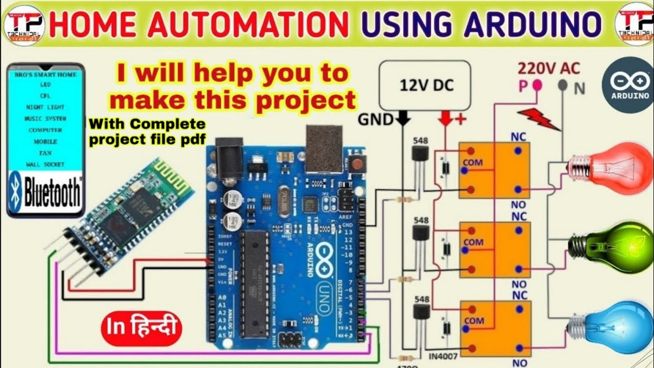|| #HomeAutomation Using #Arduino And Bluetooth Module with complete  project report ||