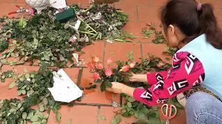 Cách cắm hoa- Năm kỷ hợi cắm hoa hồng để bàn bằng bát hình hợi