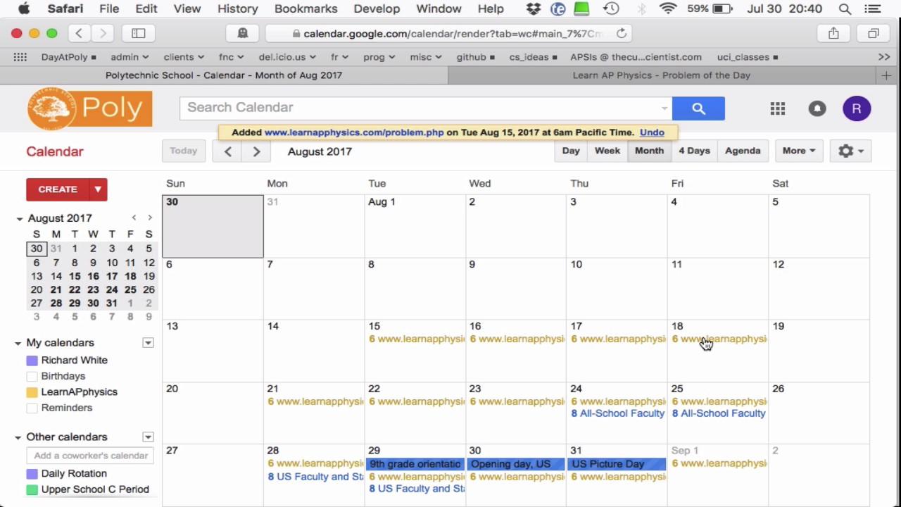 Calendar Notify