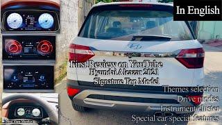 Hyundai Alcazar Signature top Model instrument cluster + hidden features explained  1st on YouTube⭐️