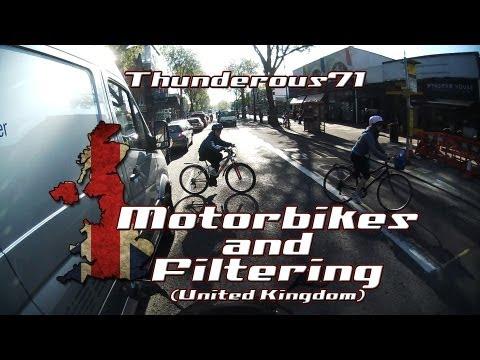 Motorbikes and Filtering (UK AKA Lane Splitting)