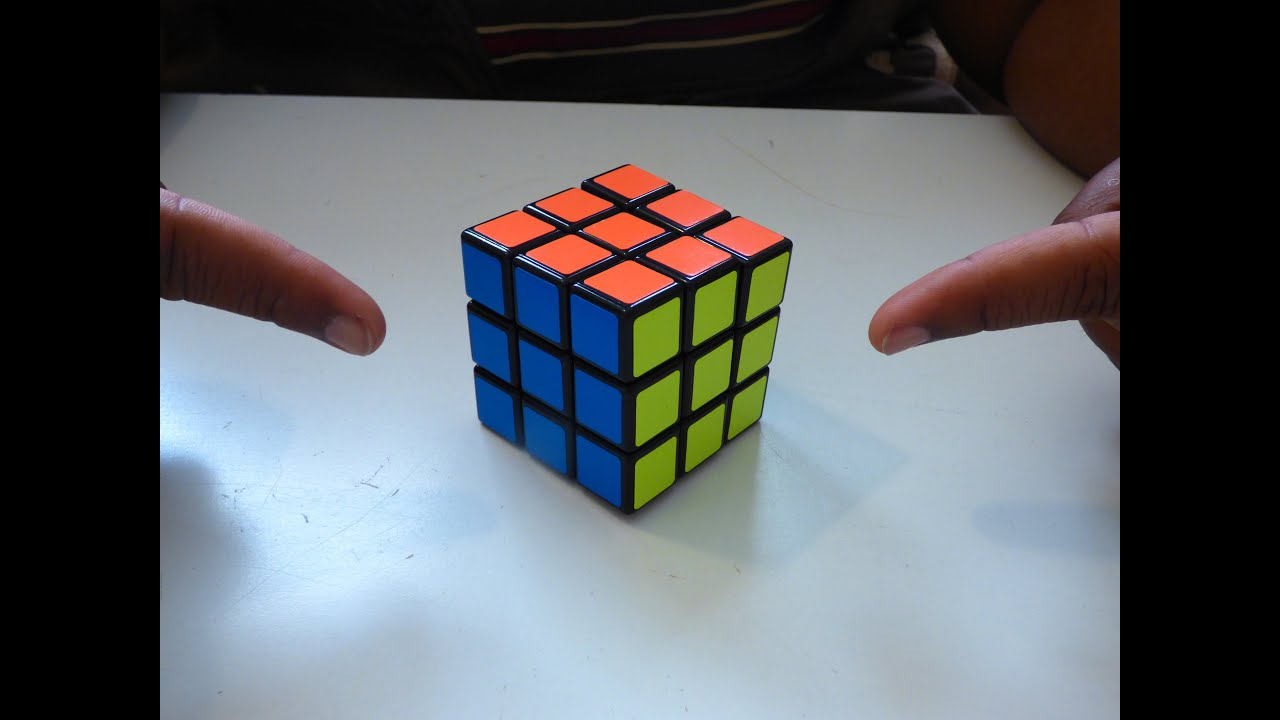 f468bf4726a6 How to solve a rubik s cube in 2 EASY MOVES! - YouTube
