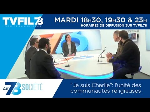 """Le 7/8 Société – """"Je suis Charlie"""": l'unité des communautés religieuses"""