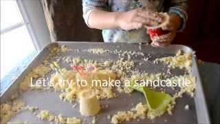Testing Homemade Taste Safe Kinetic Sand + Recipe