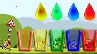 Angry Birds Drink Water 2 - SHOOTING GAME TAKE ALL ANGRY BIRDS TO COLOR CUP OF WATER FULL!