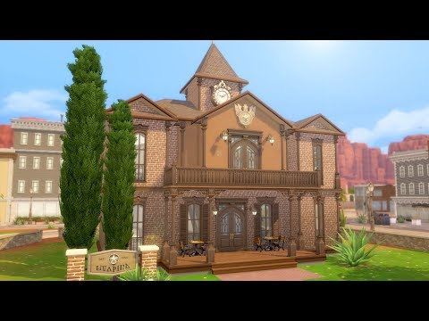 STRANGERVILLE TOWN HALL // The Sims 4: Speed Build thumbnail