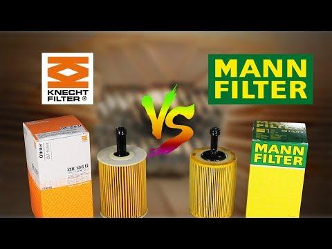 Mann Vs Knecht - Oil Filter Comparison
