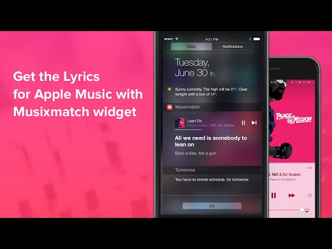 Get the lyrics for Apple Music with Musixmatch Widget