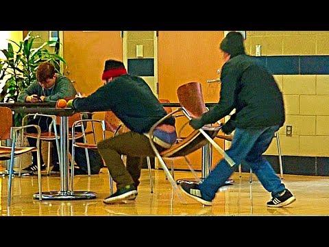 Chair Pulling Prank Part 11