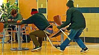 Chair Pulling Prank Part 11