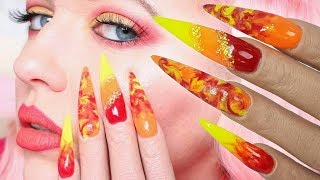 FIRE NAILS ON POOCHIEZ HAND ROSIE | MIA SECRET FRUITY COLLECTION |