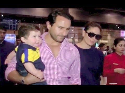 Taimur Ali Khan CUTE VIDOE At Mumbai Airport