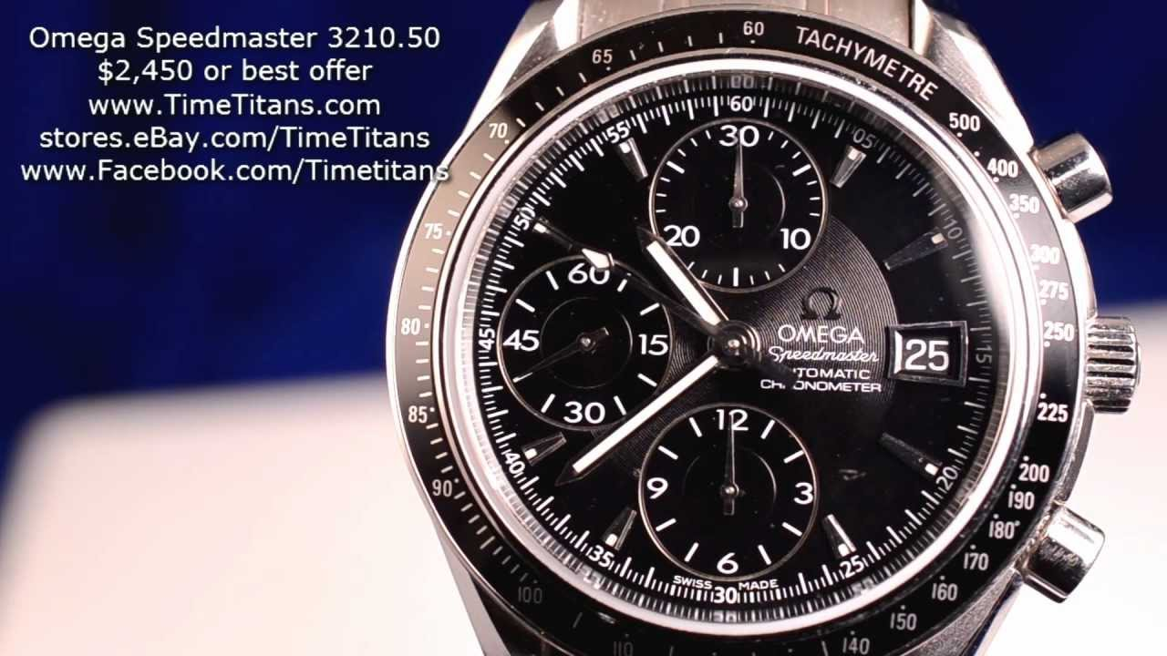 Omega Speedmaster Automatic Date 3210.50 COSC 40MM Black ...