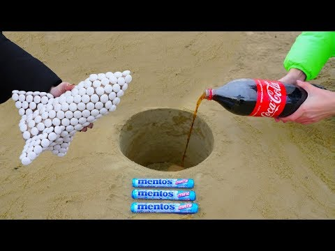 Mentos Rocket vs Coca Cola