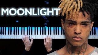 XXXTENTACION - MOONLIGHT Piano tutorial