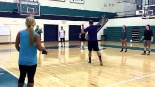 Throwing and catching elementary physical education lesson plan