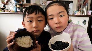 のりの佃煮ですよ。Rino&Yuuma