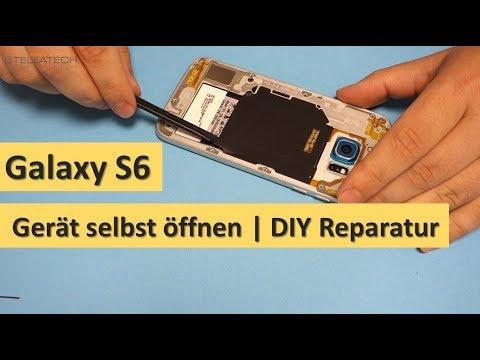 Samsung Galaxy S6 (SM-G920F) Teil 1: Gerät öffnen und Display zerlegen   Tutorial [deutsch]
