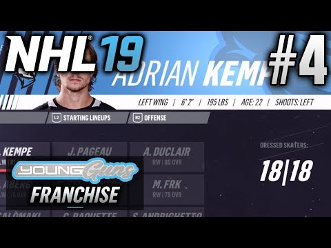 NHL 19 Young Guns | Expansion Franchise | EP4 | INAUGURAL SEASON (Season 1 Sim)