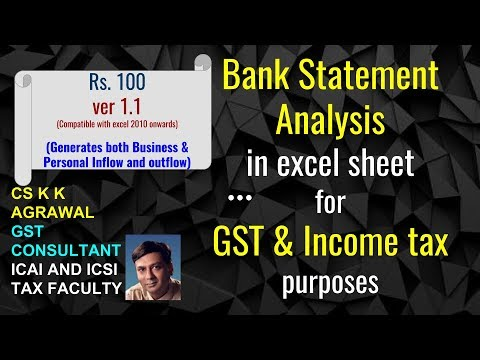 ver 1.1 Bank statement analysis for GST and Income Tax purposes for financial year 2017 18
