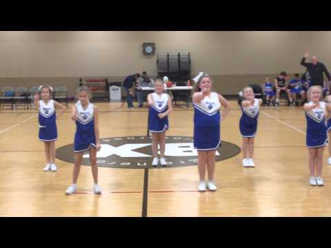 Abby Claire first cheerleading game with Brainerd Baptist School 2015-01-15.