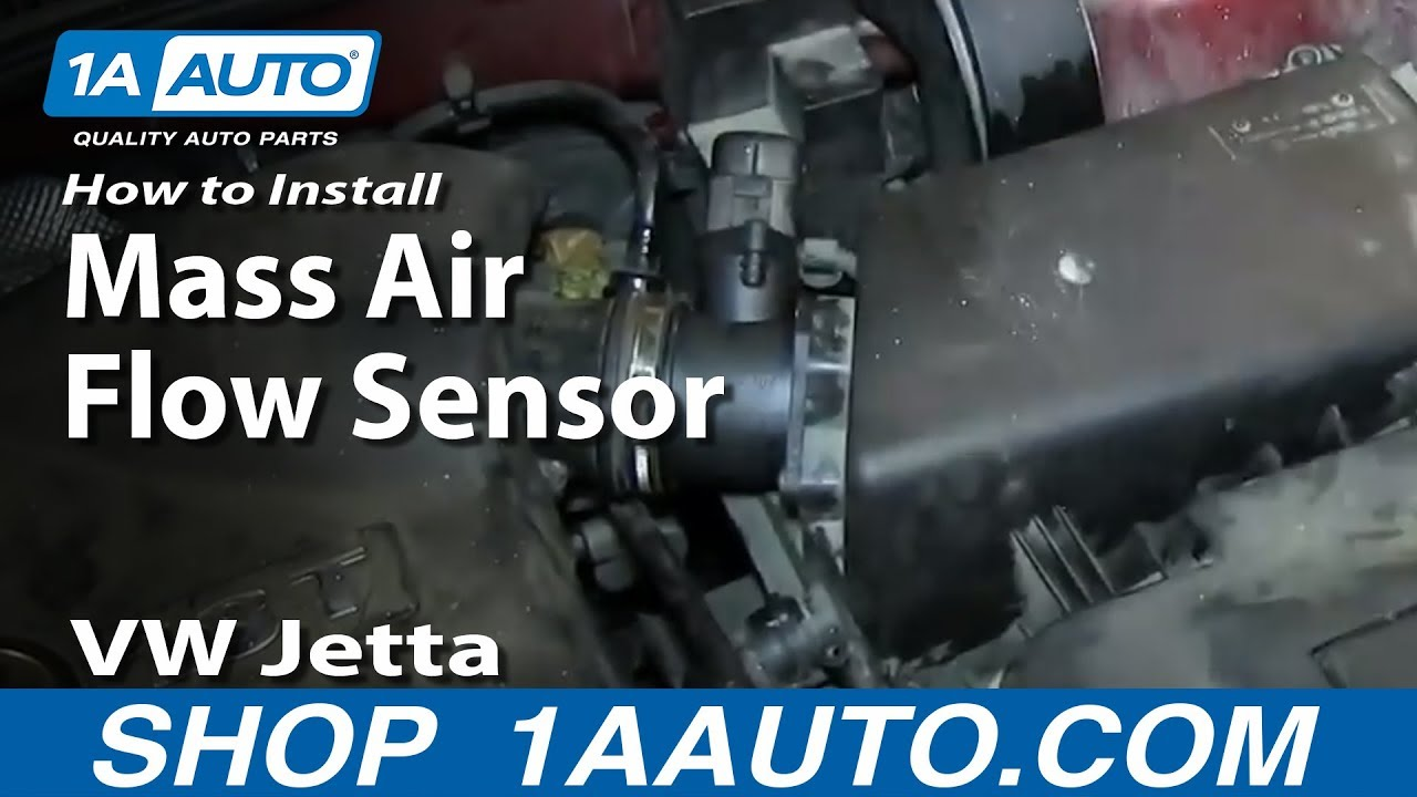 replace mass air flow sensor  housing
