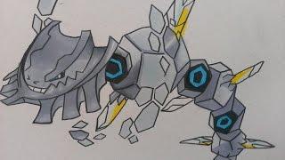 Prismacolor speed draw Mega Steelix