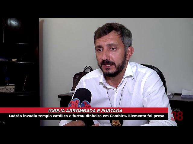 ELEMENTO É PRESO PELA POLÍCIA CIVIL DE APUCARANA APÓS FURTAR DINHEIRO DE IGREJA