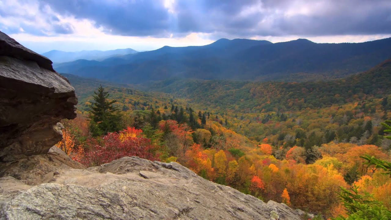 scenic time lapse fall